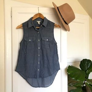 Cute Chambray Hi Lo Top from Forever 21